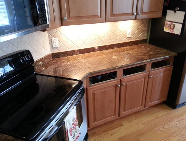 Minsk Bronze Kitchen Granite
